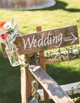 rustic wedding decor signs