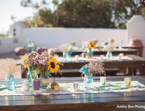 wood table rentals wedding 10