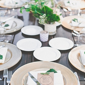 Our wood table rentals at Temecula Creek Inn in Wine Country Temecula. Photography by Mark Brooke and featured on Wedding Chicks!